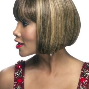 H-280 | Mid-Length African American Straight Human Hair Wigs - wigglytuff.net