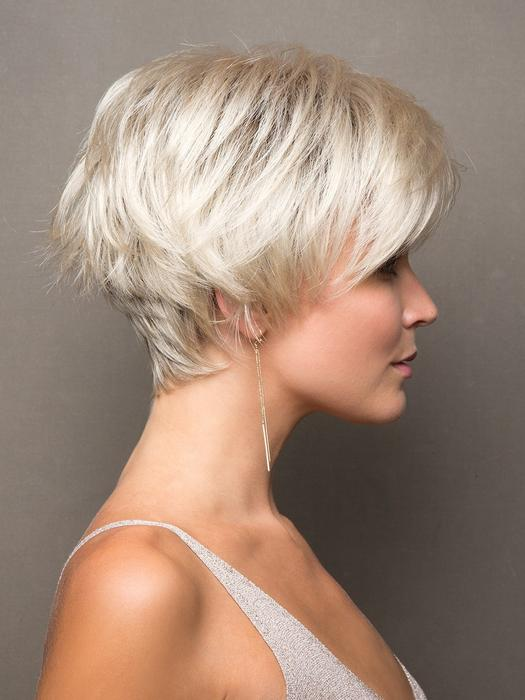 Ivy | Short Rooted Women's Straight Synthetic Blonde Wigs - wigglytuff.net