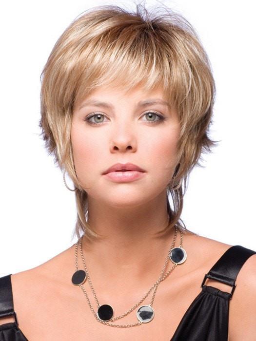 Millie   Short Women's Gray Rooted Brunette Wigs - wigglytuff.net