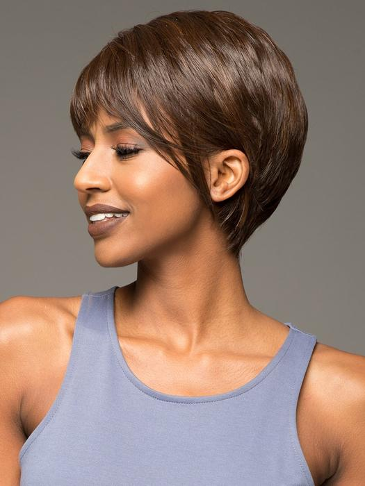 Moore | Short Women's African American Red Synthetic Wigs - wigglytuff.net