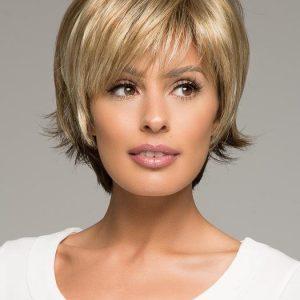Morgan   Short Women's Blonde Straight Layered Synthetic Wigs - wigglytuff.net