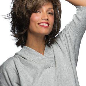 Natalie   Mid-Length Straight Women's Brunette Wigs - wigglytuff.net