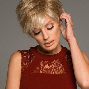 Roni   Short Women's Blonde Straight Brunette Wigs - wigglytuff.net