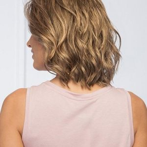 Soft and Subtle Petite/Average | Mid-Length Gray Bob Curly Synthetic Brunette Blonde Wavy Wigs - wigglytuff.net