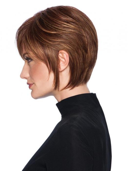 Wispy Cut | Short Red Women's Brunette Rooted Wigs - wigglytuff.net