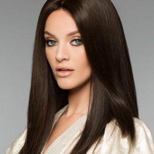 Alexandra Petite H-Mono | Long Black Women's Gray Red Straight Layered Wigs - wigglytuff.net