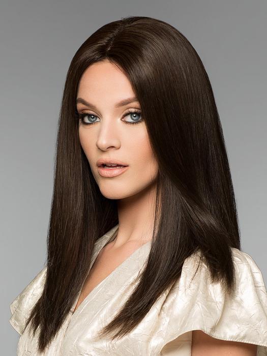 Alexandra Petite H-Mono   Long Black Women's Gray Red Straight Layered Wigs - wigglytuff.net